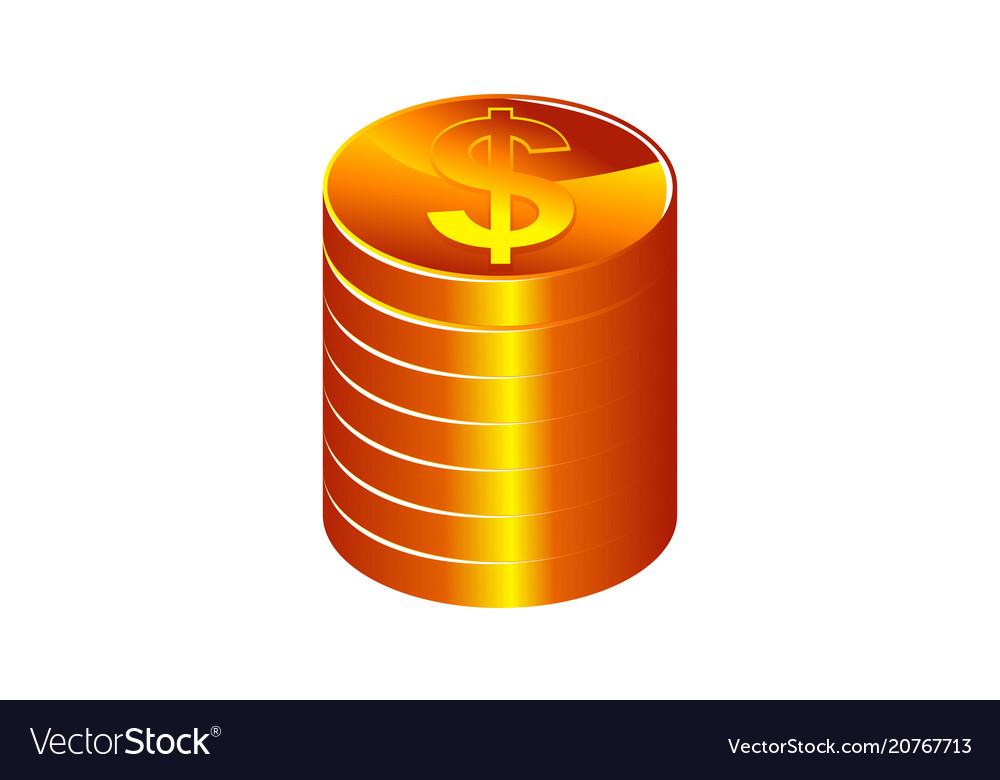 Money stack logo design template