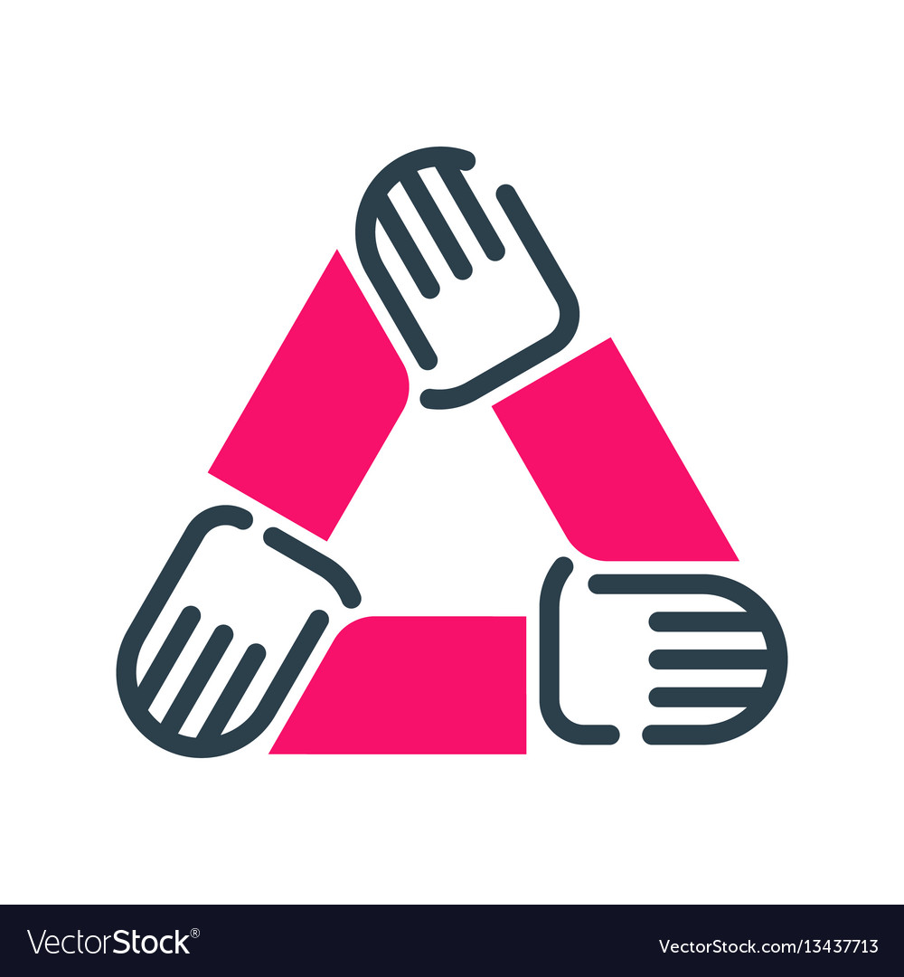 Motivation concept teamwork career icon business vector image