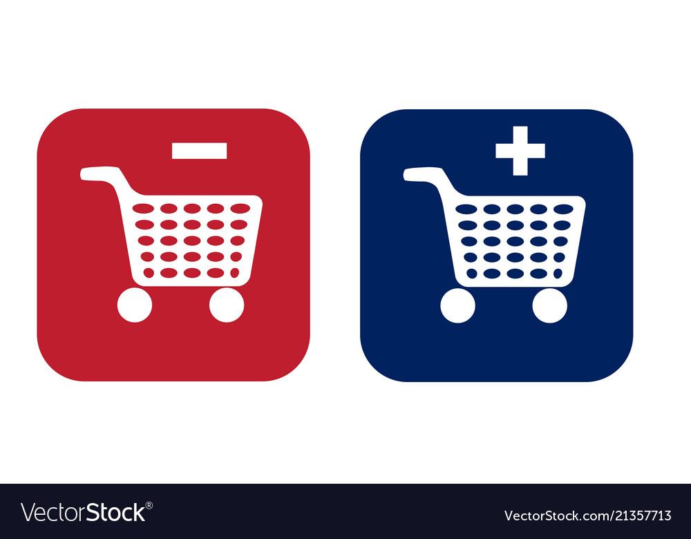 Set of shopping chart icon
