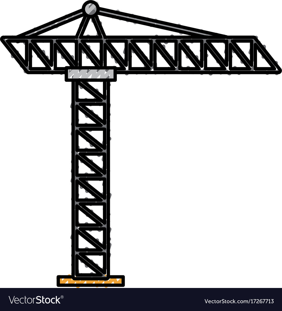 Tower construction site scaffolding project icon