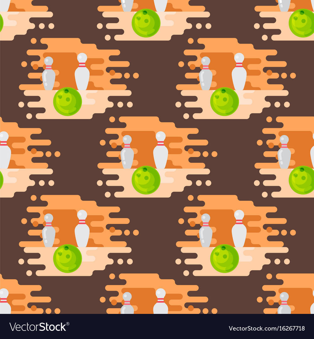 Bowling emblem design seamless pattern item