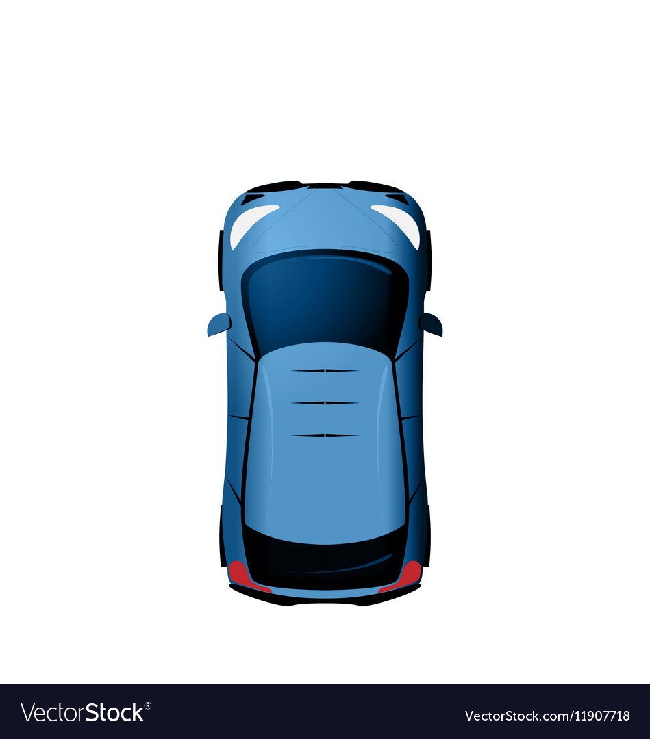 Car view from above Vehicle Isolated on White vector image