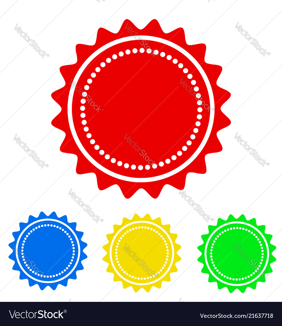 Colorful round badge icon for your design stock
