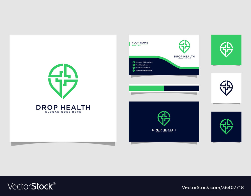 Drop health logo design