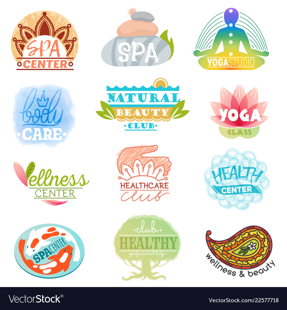 Spa logo beauty spa-center logotype