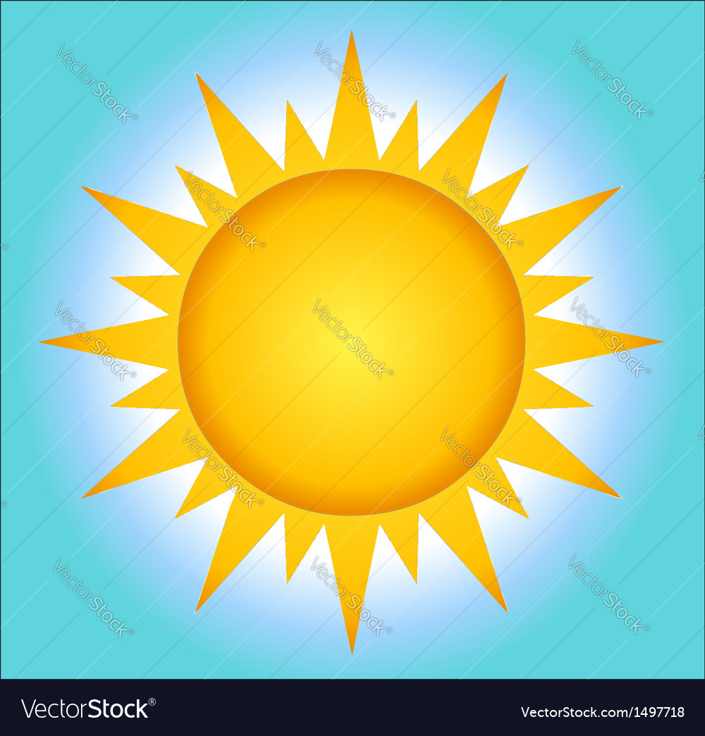 Summer Hot Sun With Background