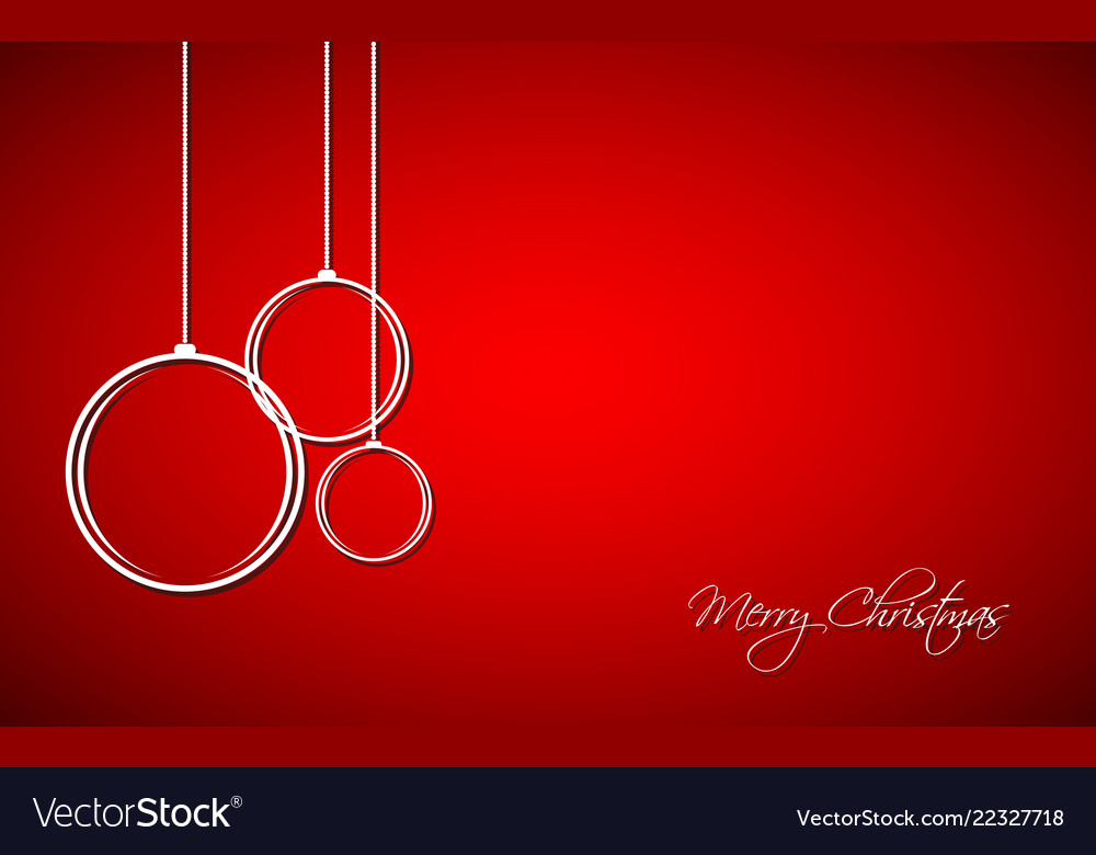 Three white christmas balls with strings