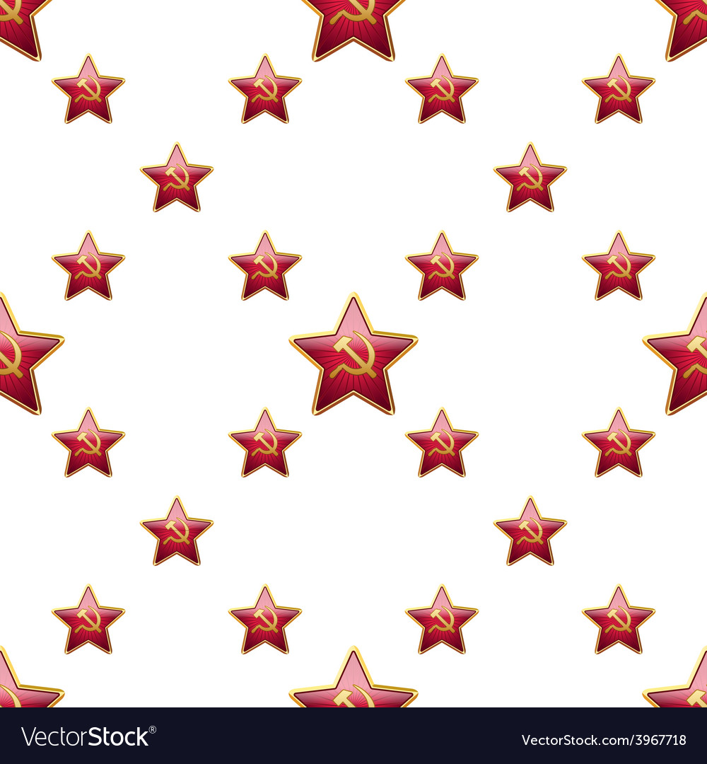 Universal badge Soviet Union stars seamless