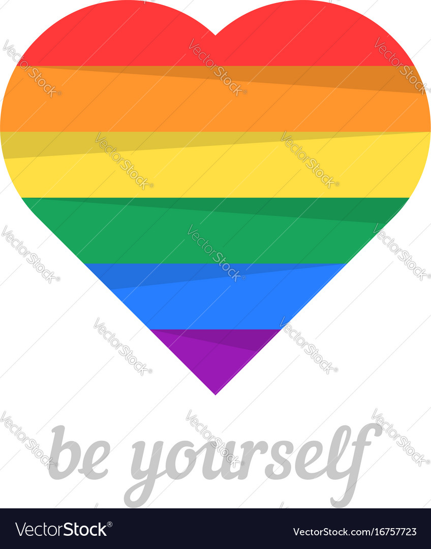 Be yourself with iridescent heart