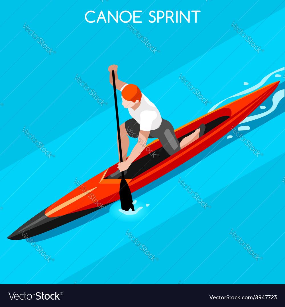 Canoe Sprint 2016 Summer Games Isometric 3D