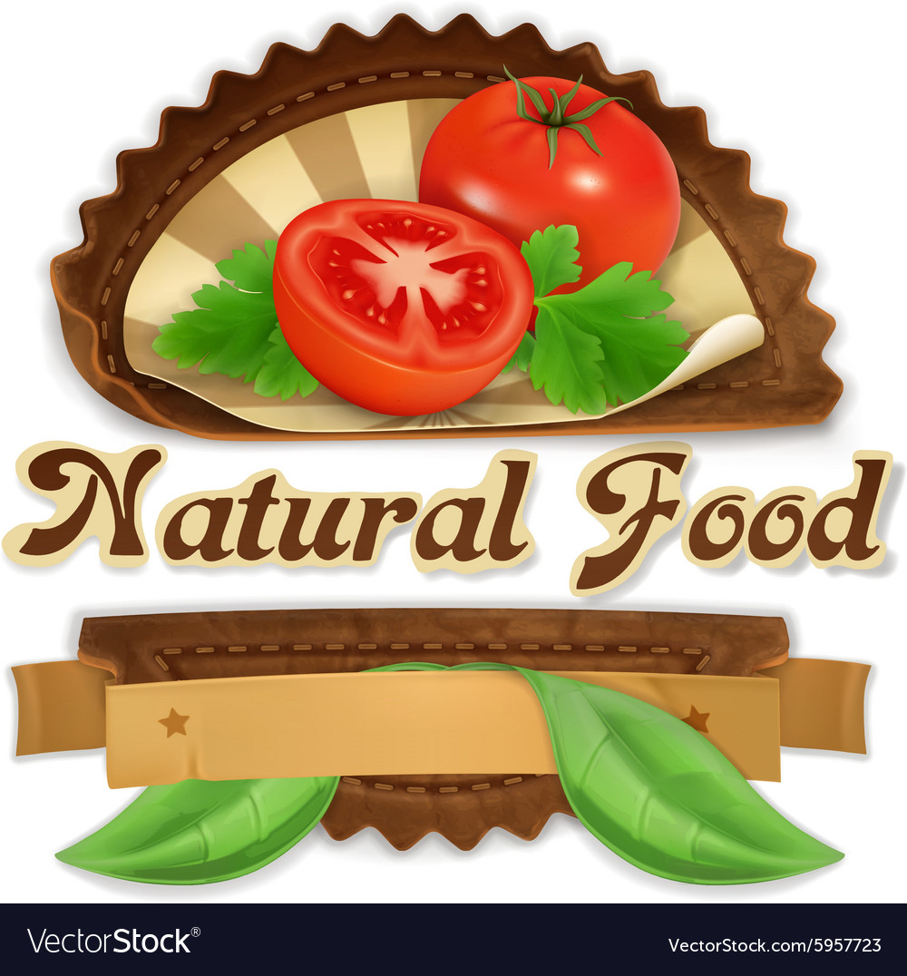 Juicy tomatoes label design