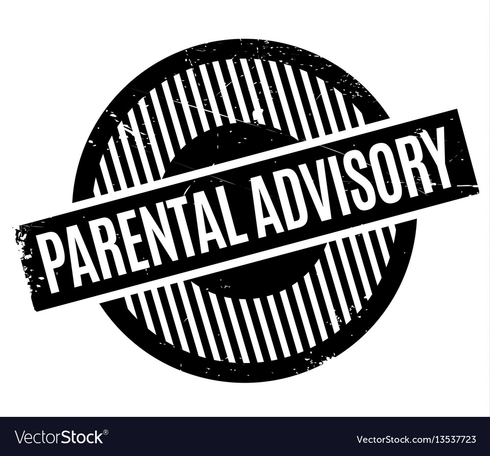 Parental Advisory Rubber Stamp Royalty Free Vector Image
