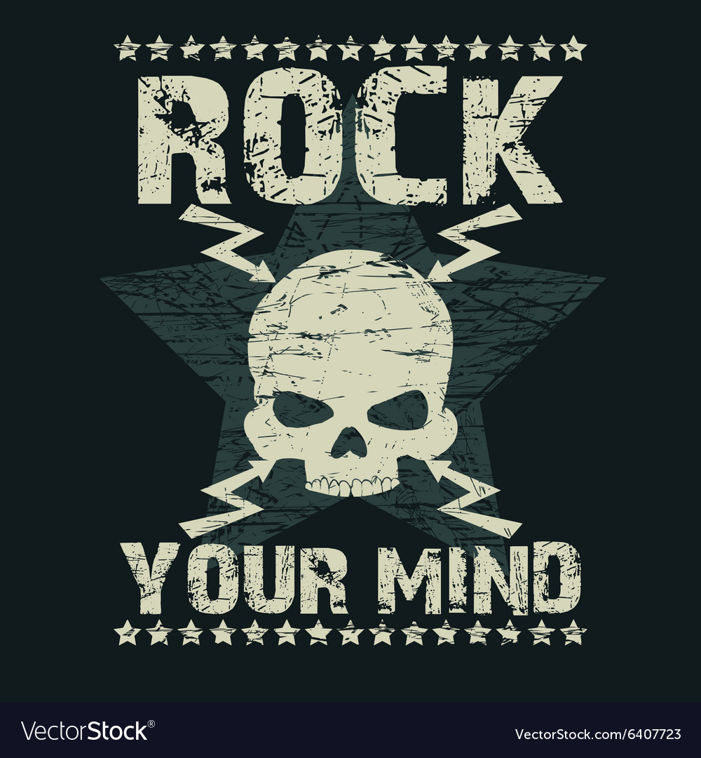 Rock t-shirt Typography