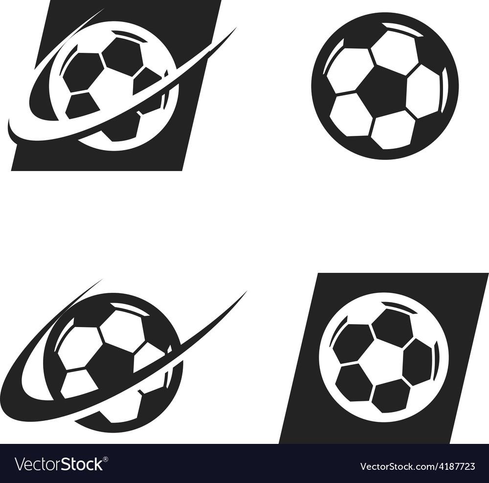 Swoosh Soccer Ball Logo Icon vector image