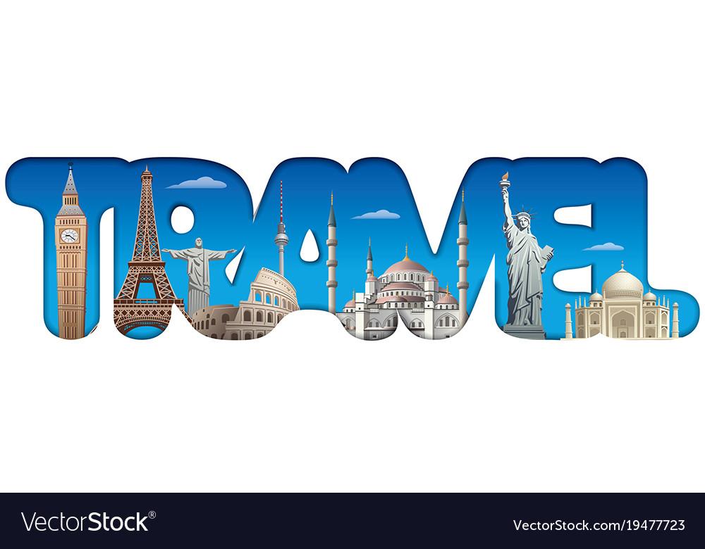 Travel around world sign