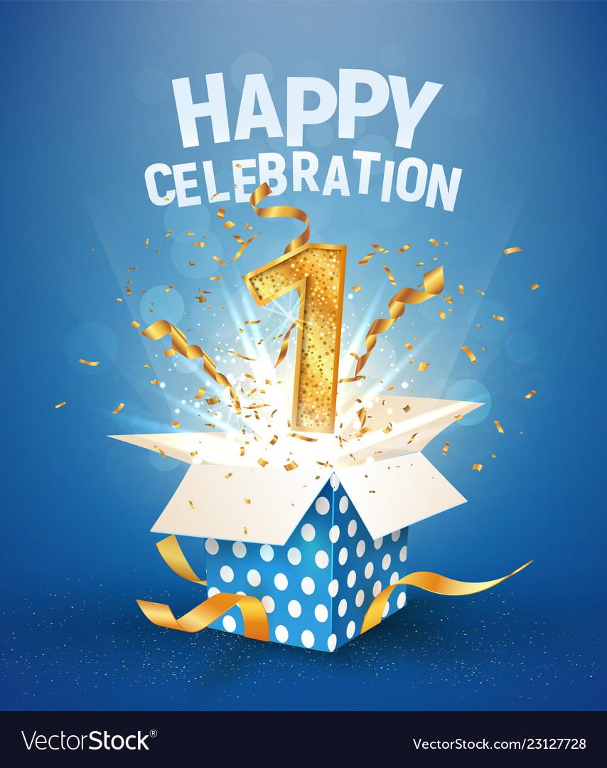 1 st years anniversary and open gift box