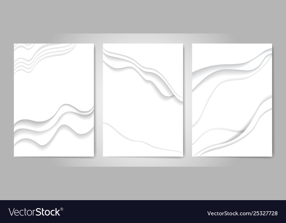 Abstract white paper cut background