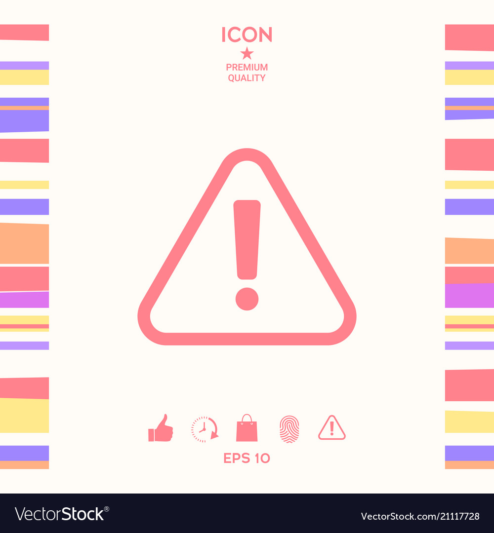 Attention icon symbol