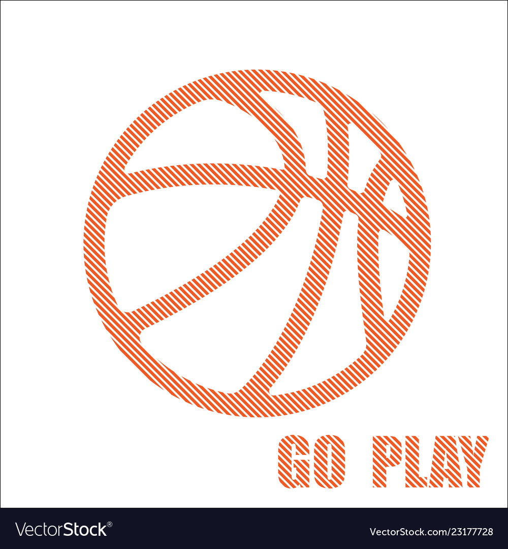 Basketball orange symbol