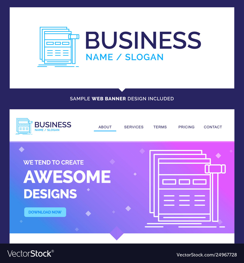 Beautiful business concept brand name internet