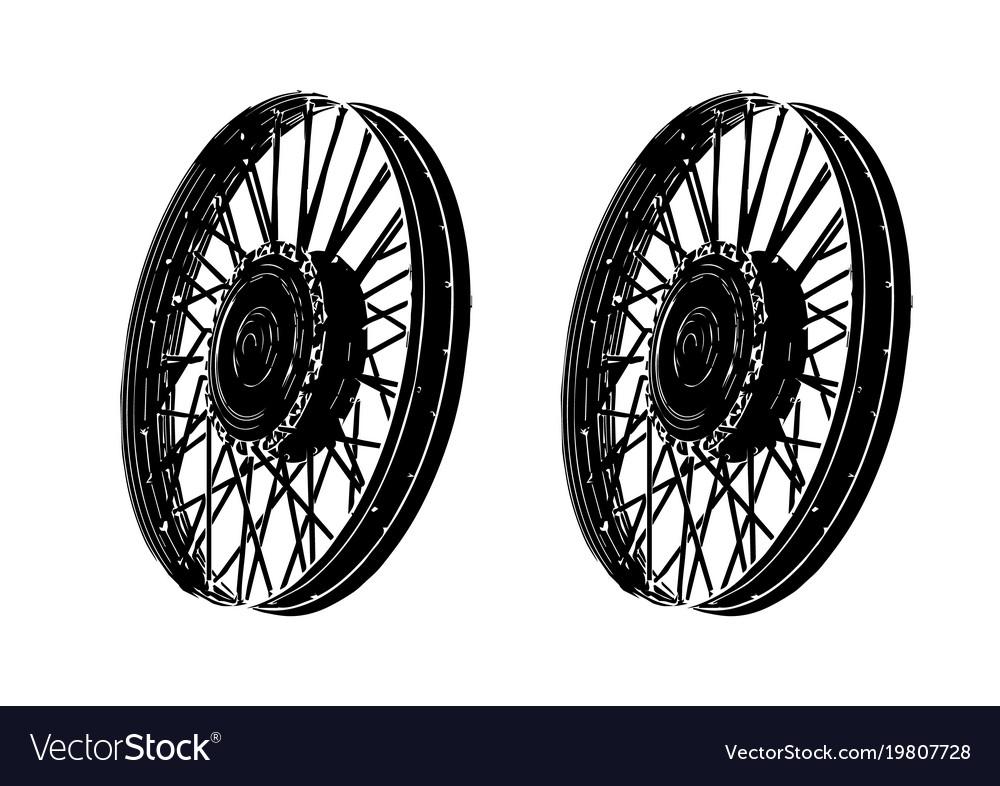 Black spoke wheel