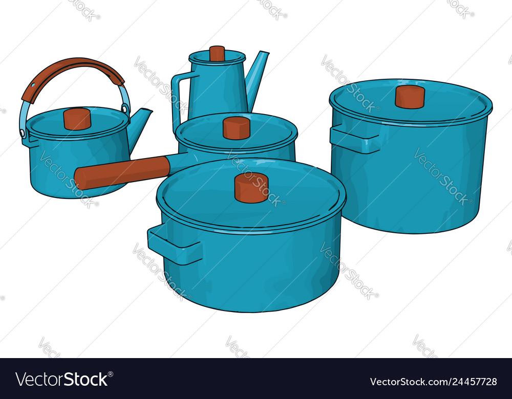 Blue Colored Kitchen Utensils Or Color