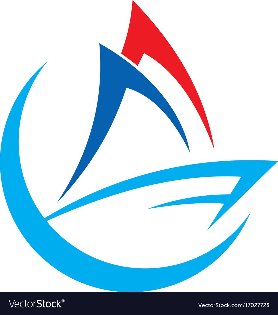 Boat sail logo