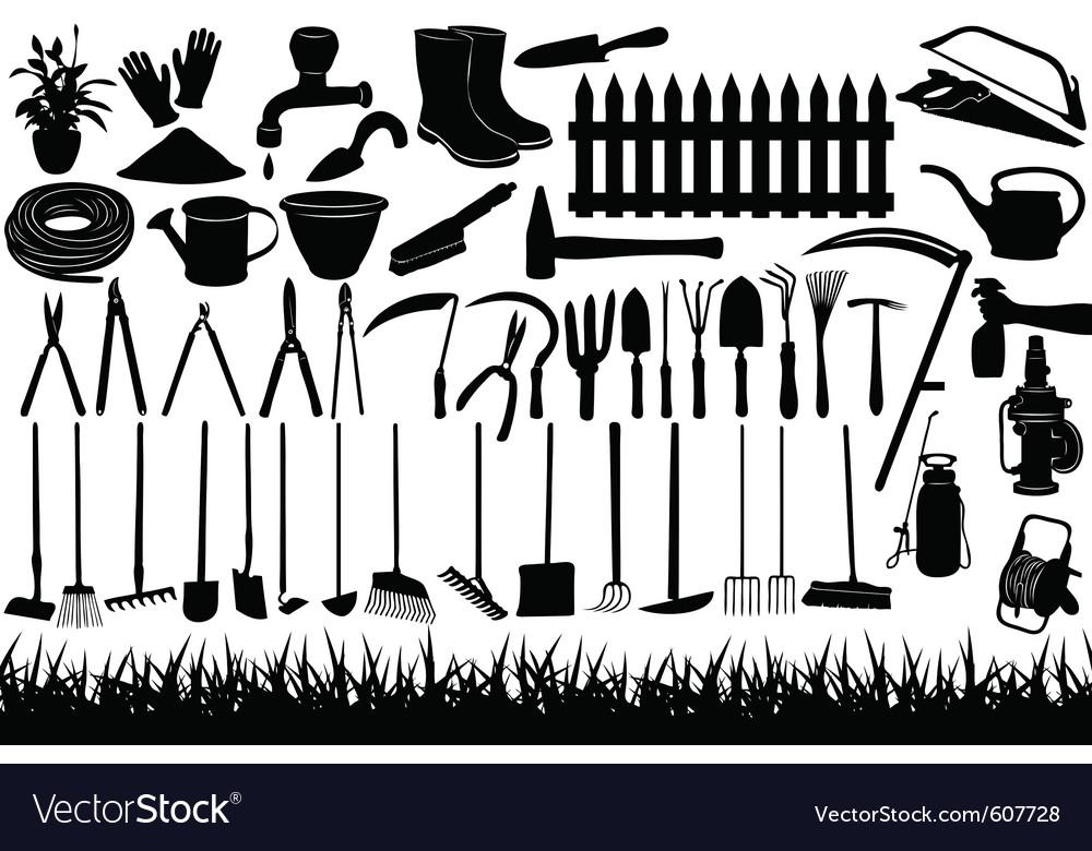 Gardening tools vector image