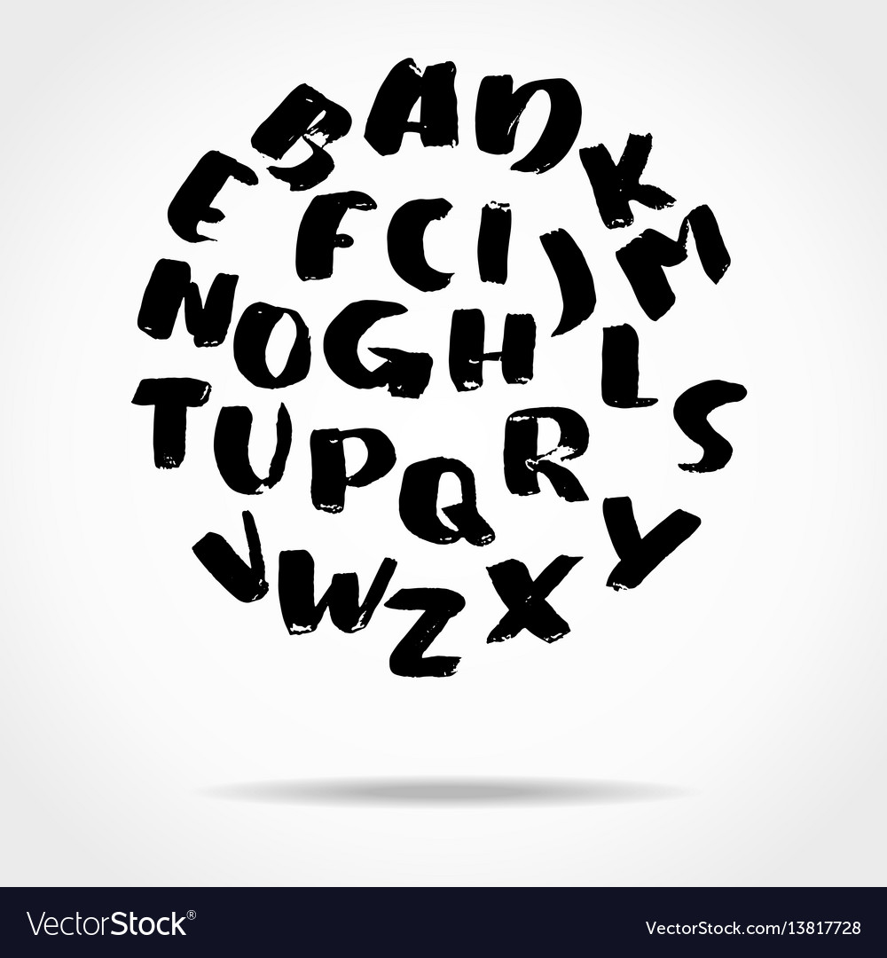 Hand drawn font made by brush strokes modern