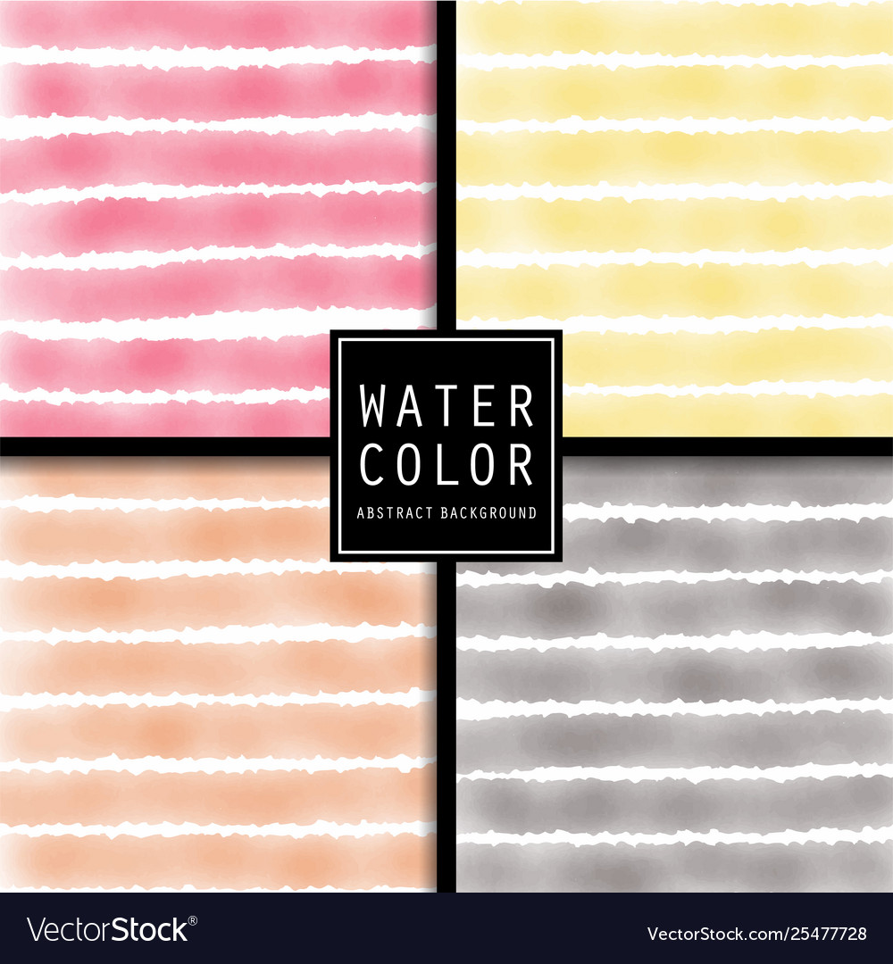 Pattern design set with watercolor light
