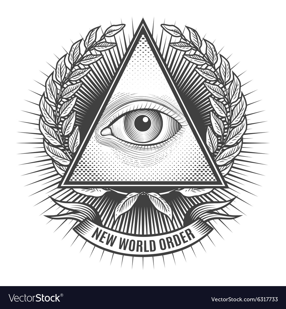 all seeing eye in delta triangle royalty free vector image