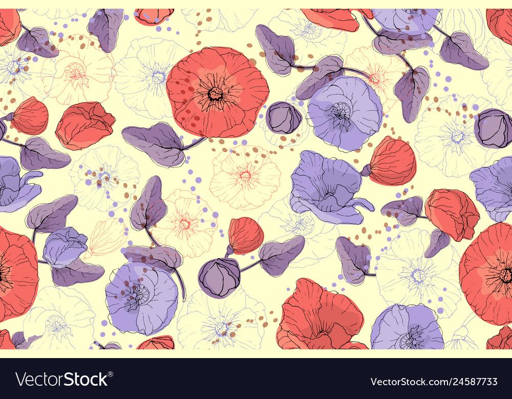 Art floral seamless pattern