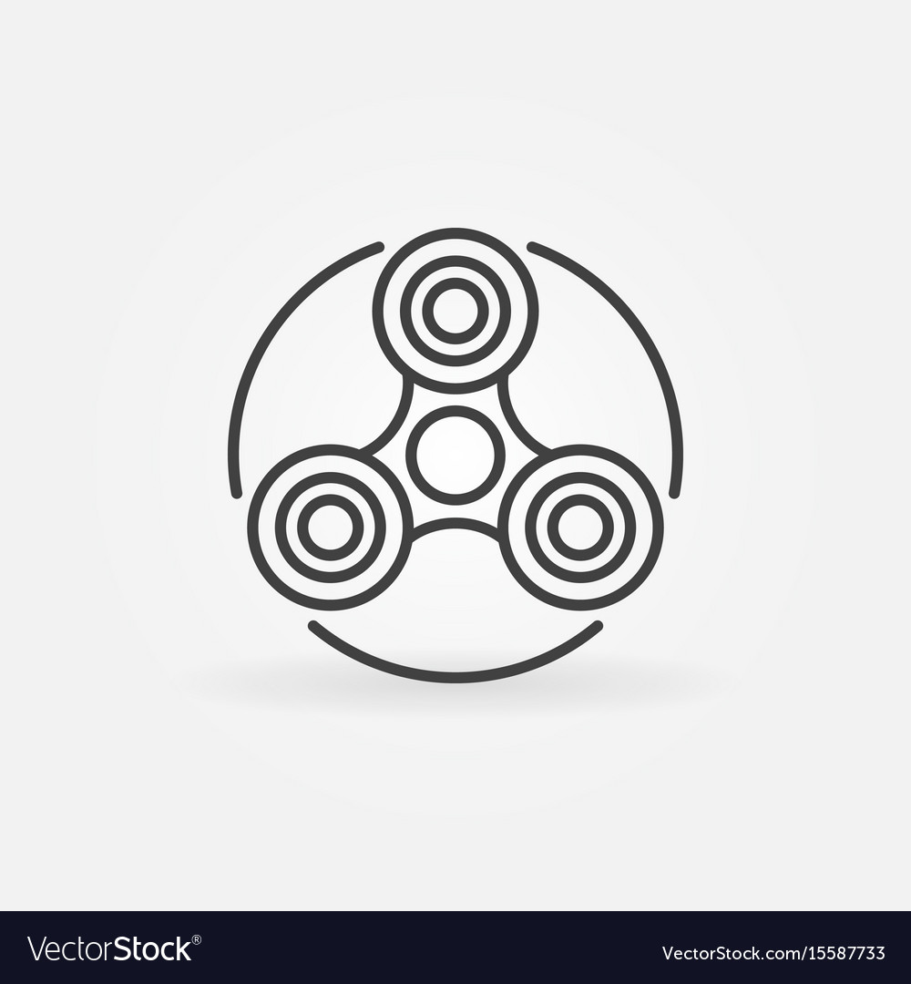 Fidget spinner outline icon vector image