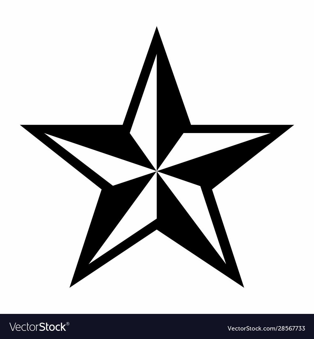 five pointed star royalty free vector image - vectorstock  vectorstock