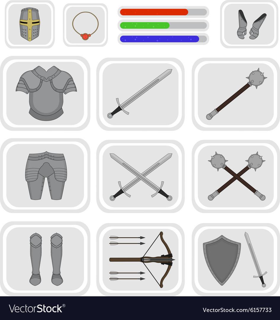 Game inventory Warrior knight set 1
