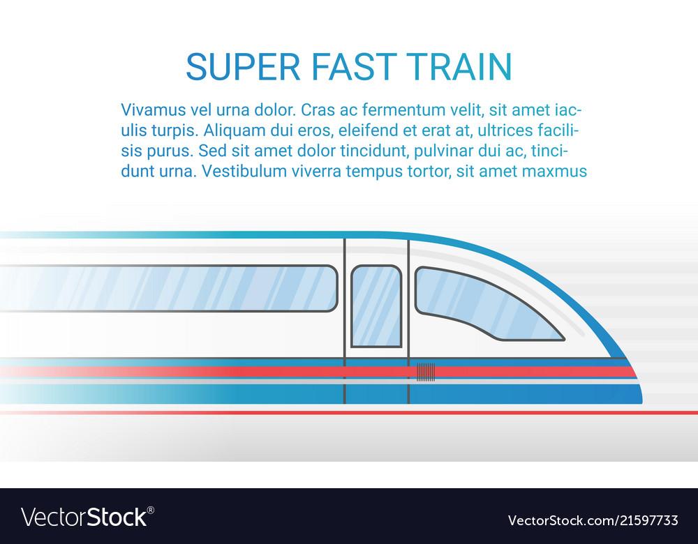 High speed modern rail train concept