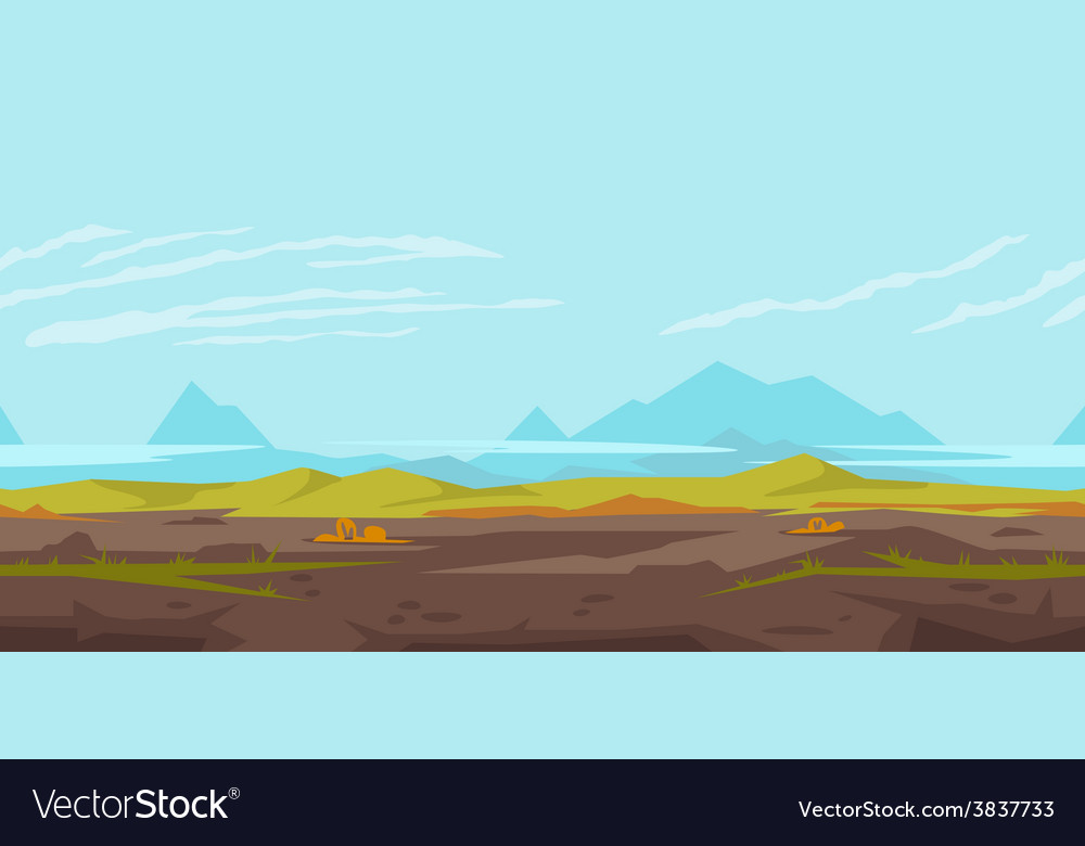 Hills Game Background Landscape vector image