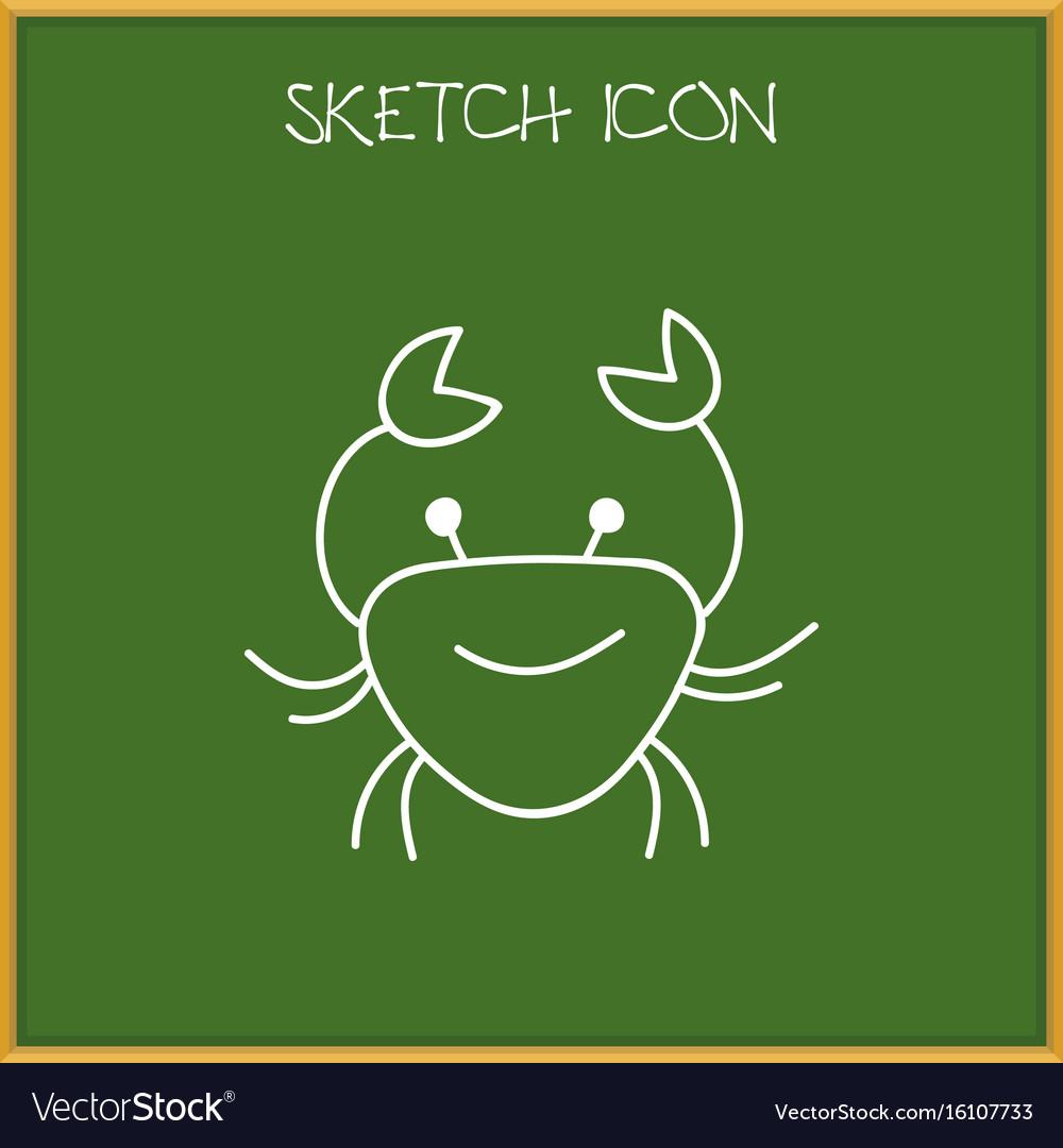 Of animal symbol on crab vector image