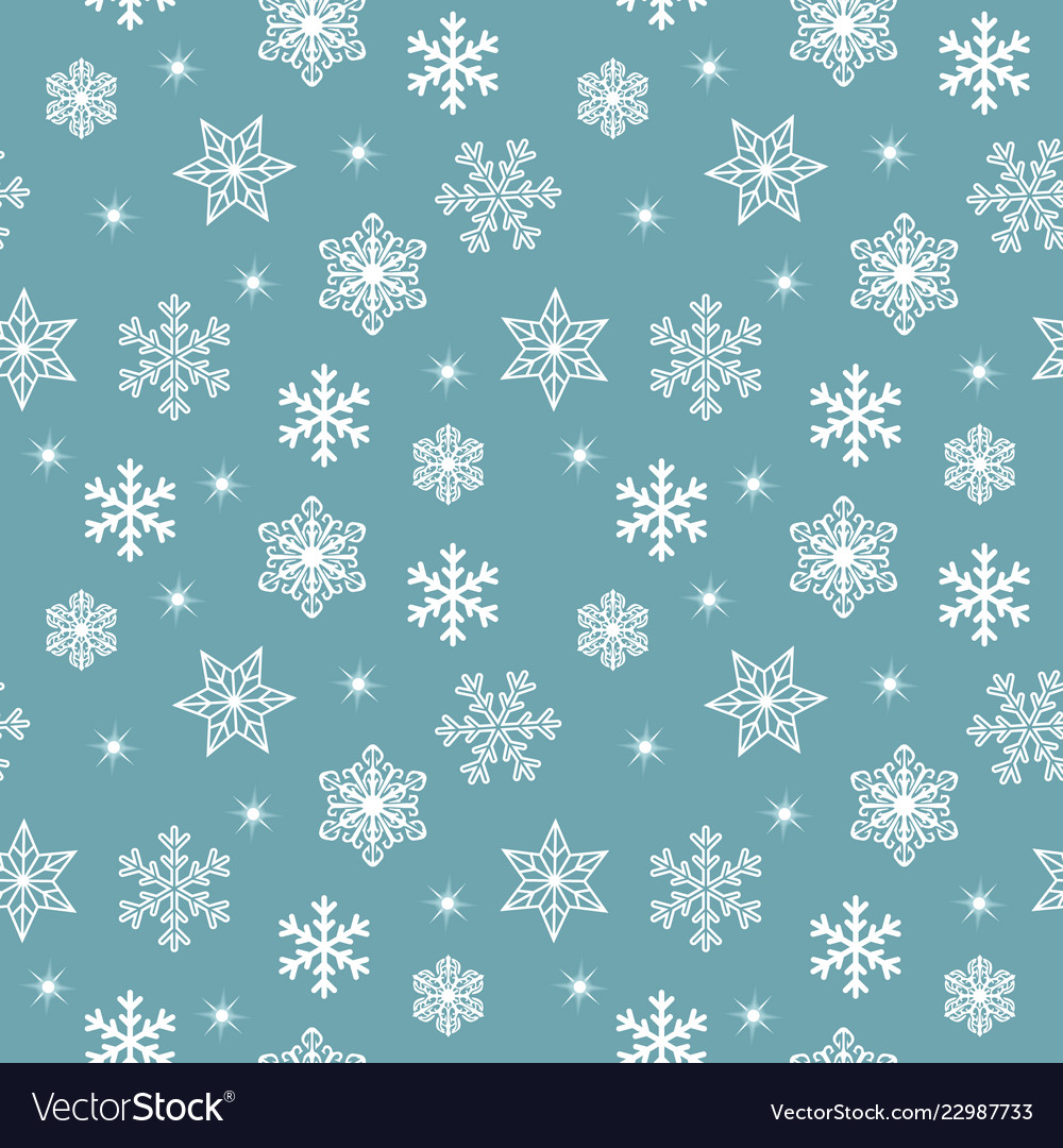 Seamless christmas pattern with various white