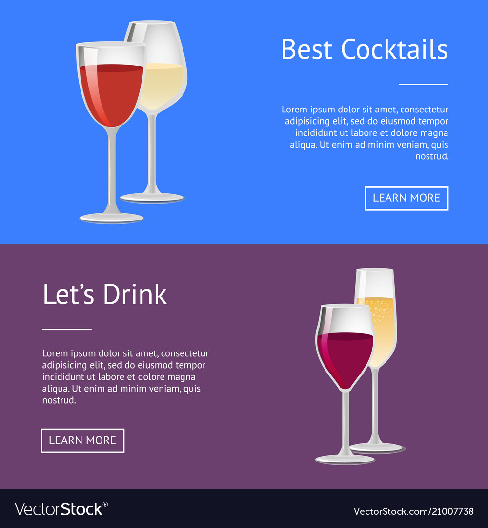Best cocktails lets drink red wine and champagne