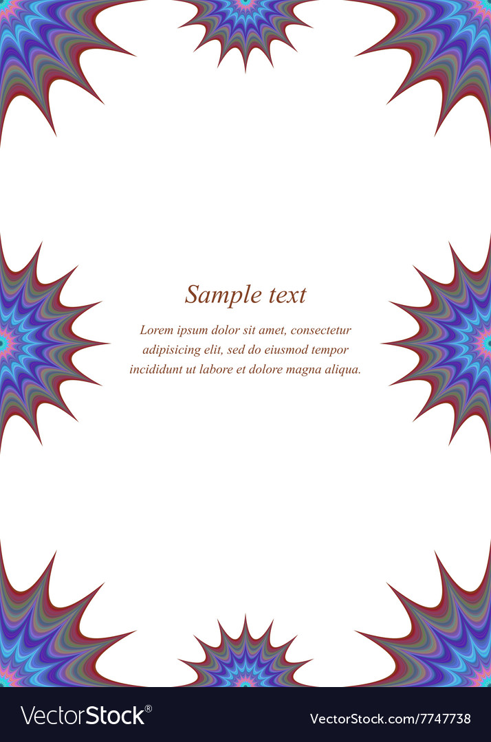 Colour page corner and border design vector image