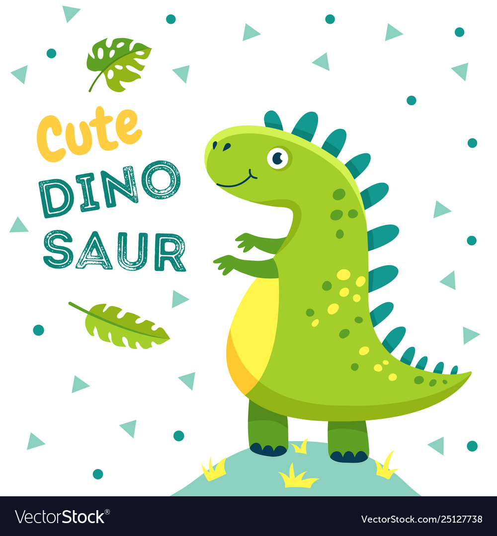 Dinosaur poster cute badino funny monsters
