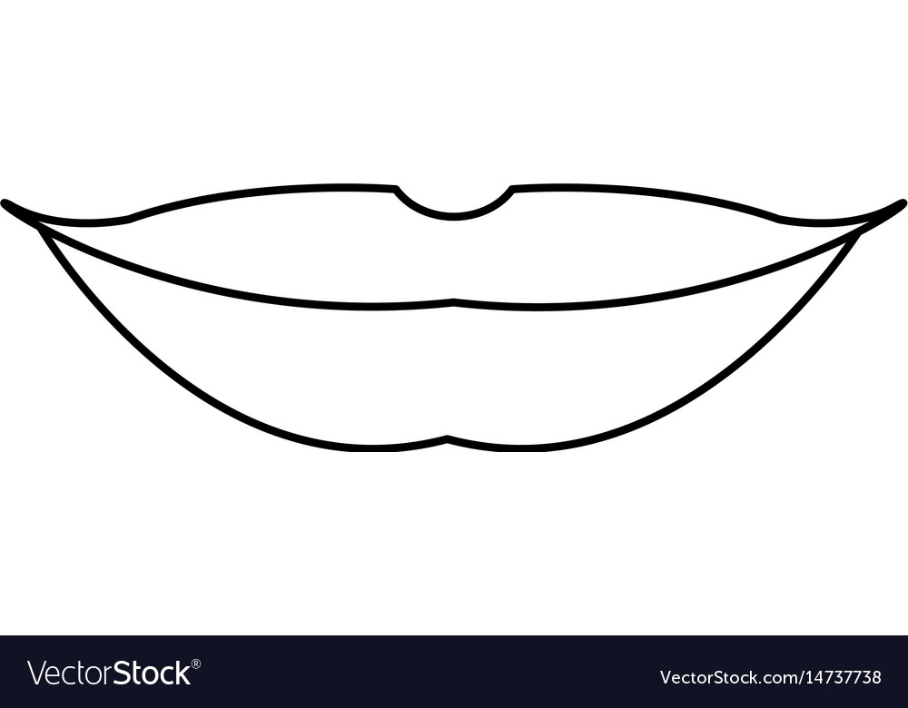 Female lips makeup mouth outline