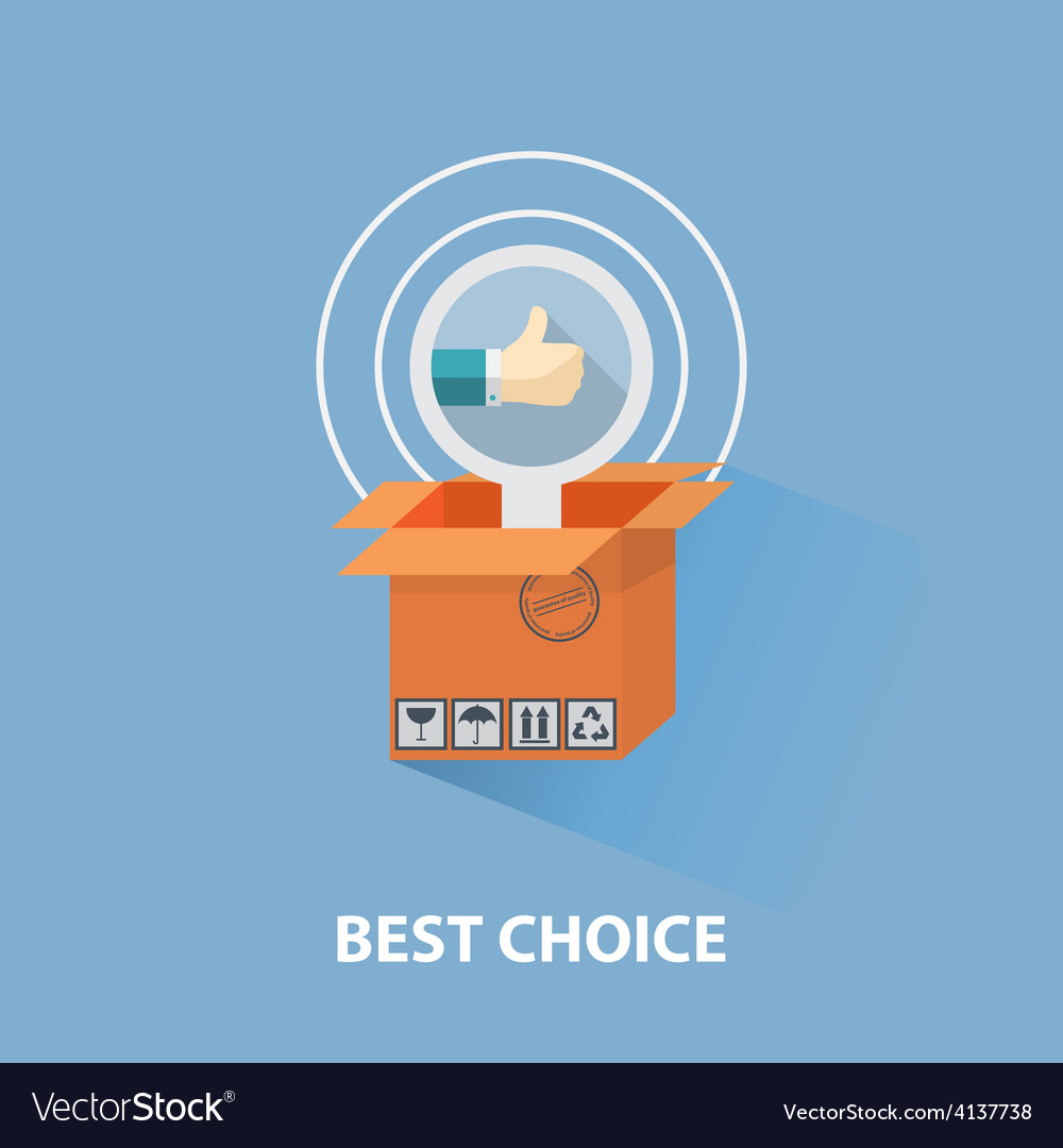 Flat design shopping concept and the best