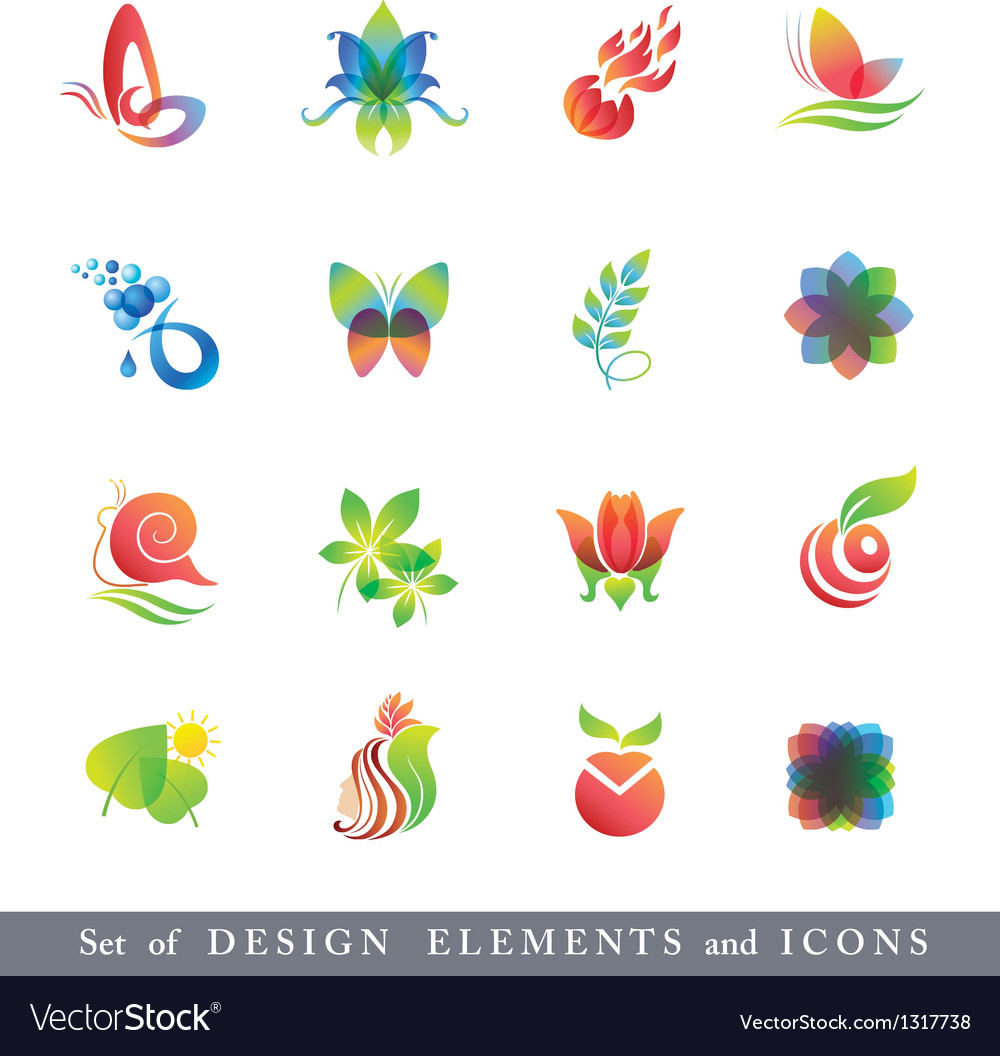 Set of Design Elements and Icons