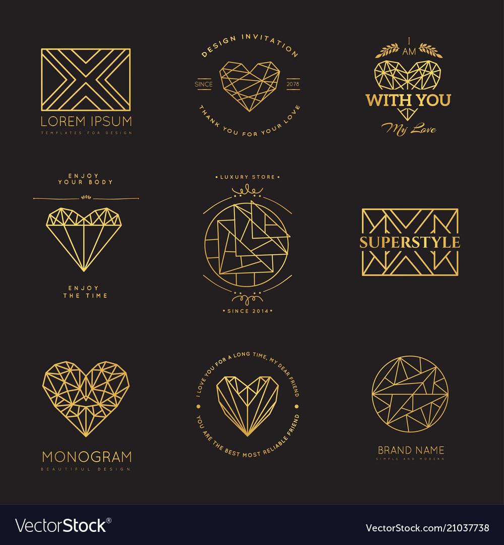 Set of geometric icons