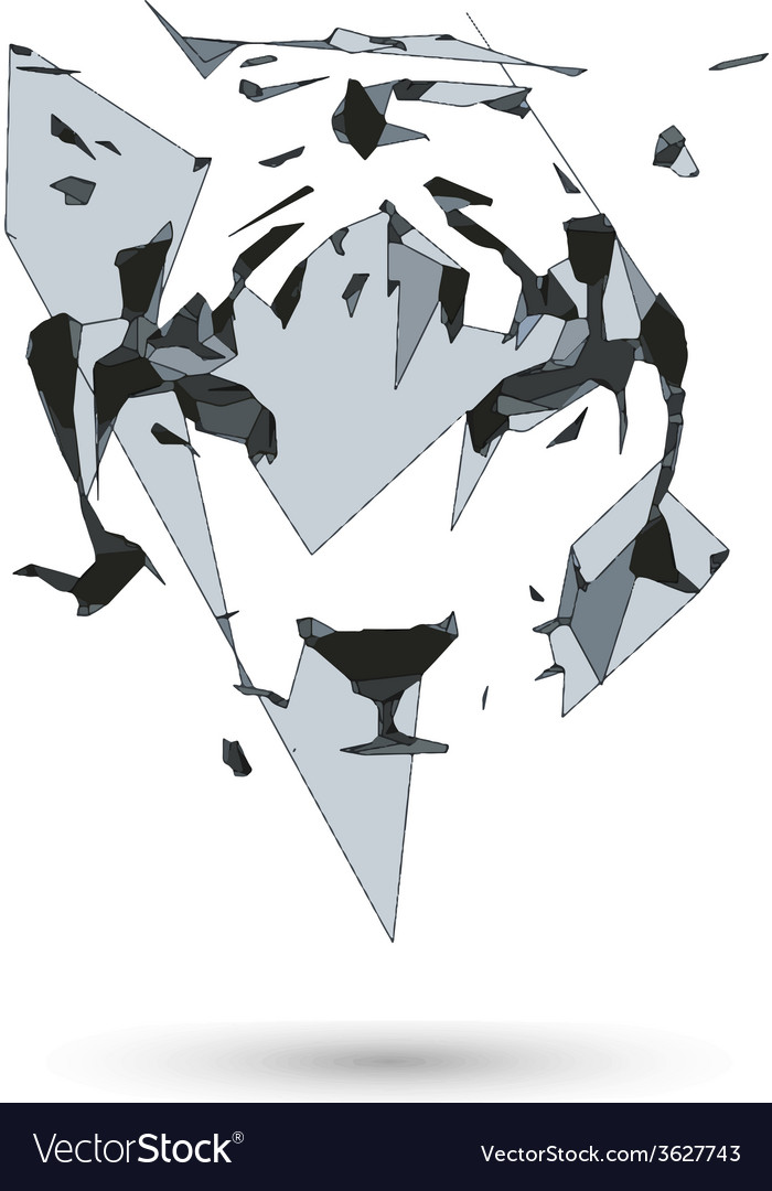 Conceptual polygonal tiger Abstract low poly