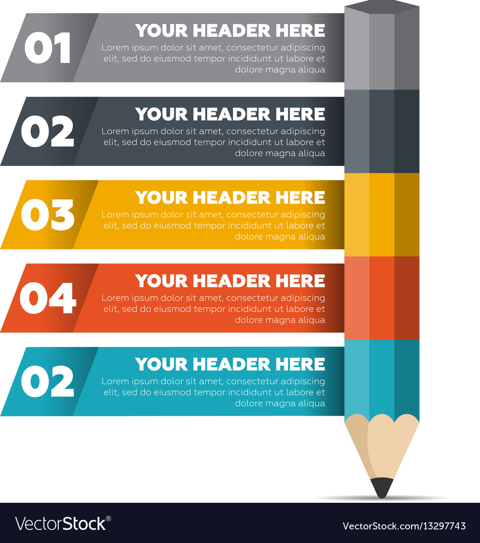 Infographics elements five steps process