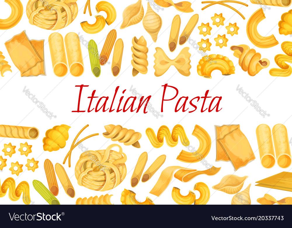 Italian pasta restaurant poster