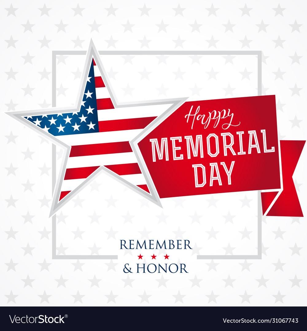 Memorial day remember honor star light banner